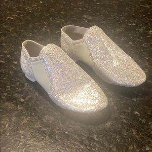 Silver Jazz Dance Shoes